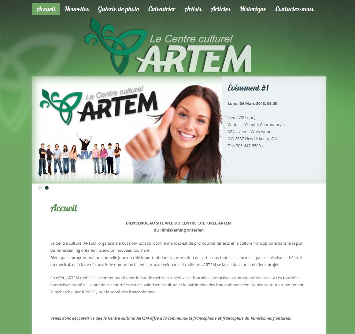 Bienvenue a notre site web!